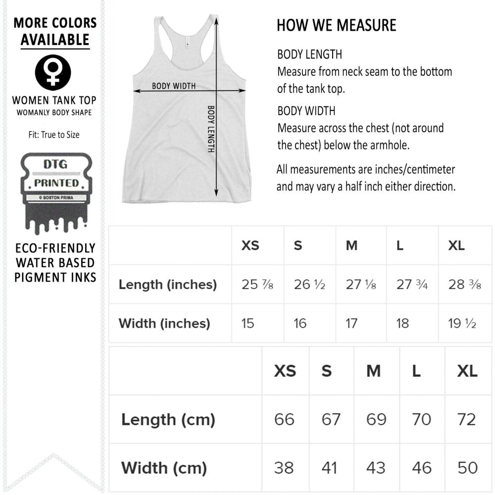 Women's Tank Tops Size Chart from Next Level 6733
