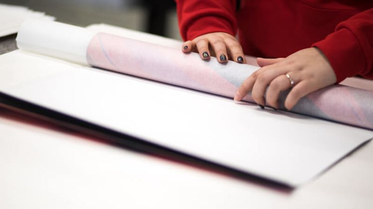 Unframed Posters Are Rolled Up