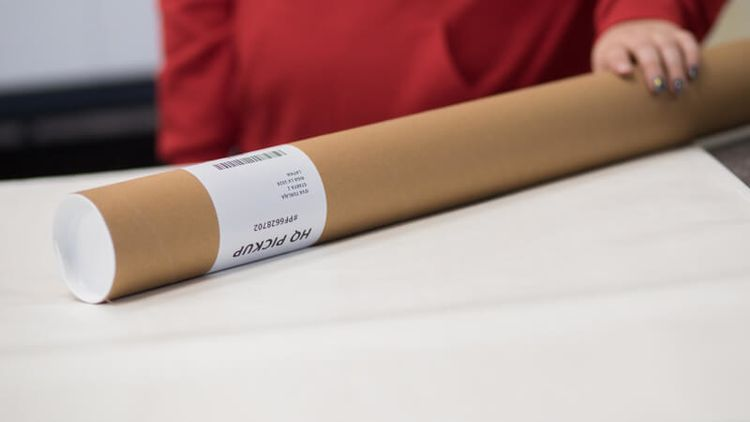 Unframed Posters Are Rolled Up And Packaged In Tubes