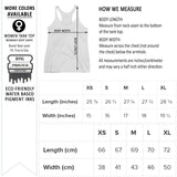 Next Level 6733 women's graphic tank top size chart