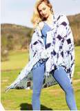 Shibori Shawl/Beach Throw