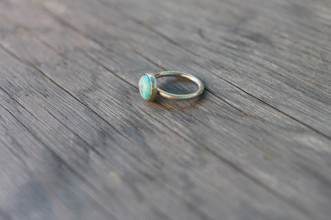 Blue Turquoise Ring - Reverie- The Shop