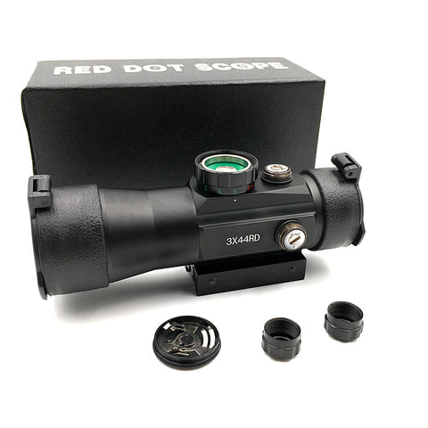 Details about  /Green Red Dot Sight Scope Outdoor Hunting 3X44RD Rifle Rail Mount Tactical Adjes
