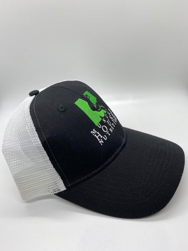 the muscle house branded trucker hat