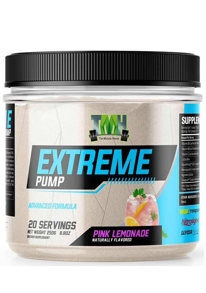 extreme pump all natural pink lemonade dietary supplement
