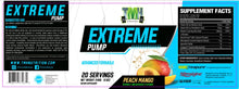 Load image into Gallery viewer, extreme pump peach mango supplement facts