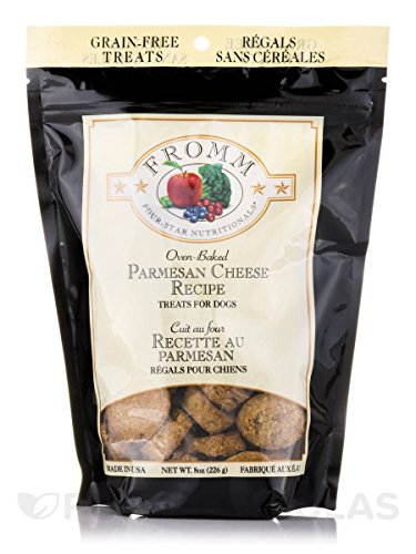 Fromm Four-Star Parmesan Cheese Grain-Free Dog Treats, 8-Ounce Bag