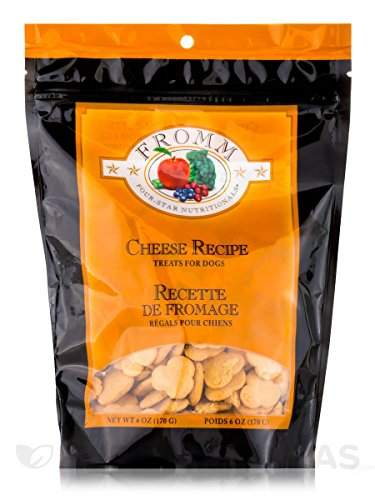 Fromm Four-Star Cheese Low-Fat Dog Treats, 6-Ounce Bag