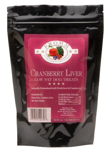 Fromm Four-Star Cranberry Liver Low-Fat Dog Treats, 6-Ounce Package