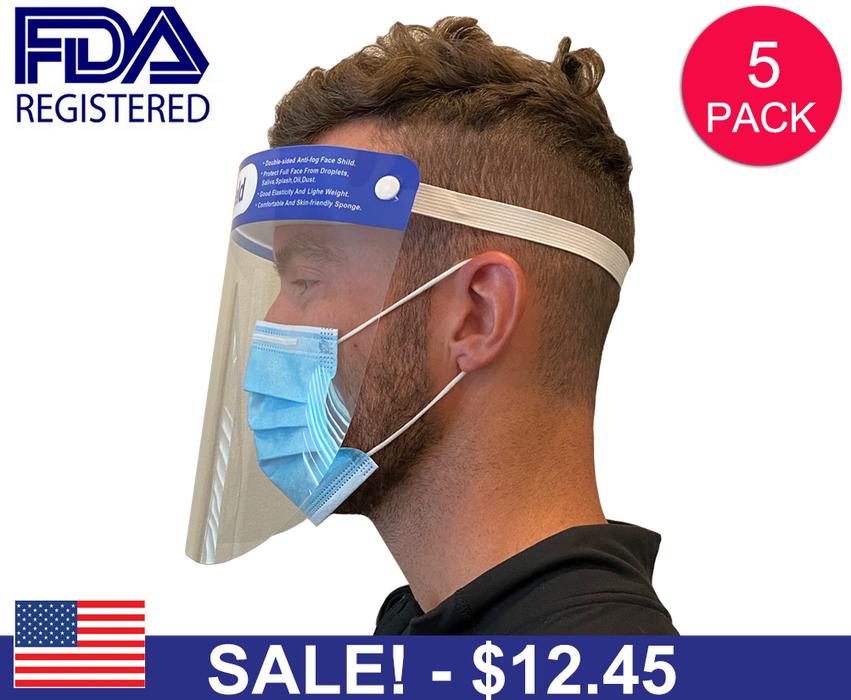 Safety Face Shield (5 Pack)