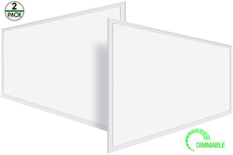 Led Flat Panel 2 Set 2x4 High Quality 50 W Dimmable 3000-5000K White Frame
