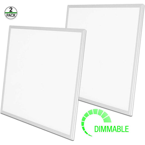 Led Flat Panel 2 Set 2x2 High Quality 40 W dimmable  3000-5000K white frame