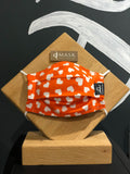 Orange Hearts - Handmade Reusable Eco-friendly Mask