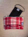 Rockabilly Red - Handmade Mask Pouch