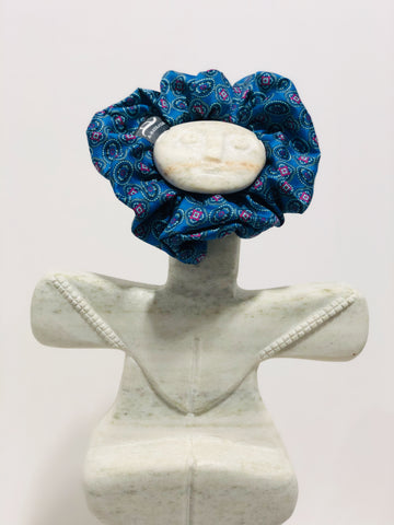 Madder Indigo - Handmade Cotton Sateen Scrunchie