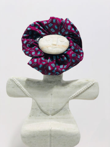 Sour Cherry on the Rocks - Handmade Cotton Sateen Scrunchie