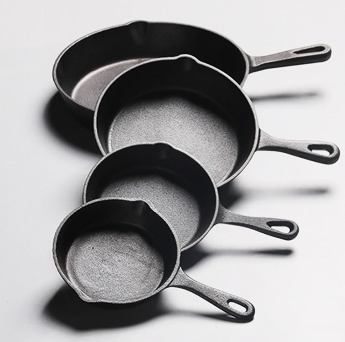 Cast Iron Frying Pans 14cm/16cm/20cm