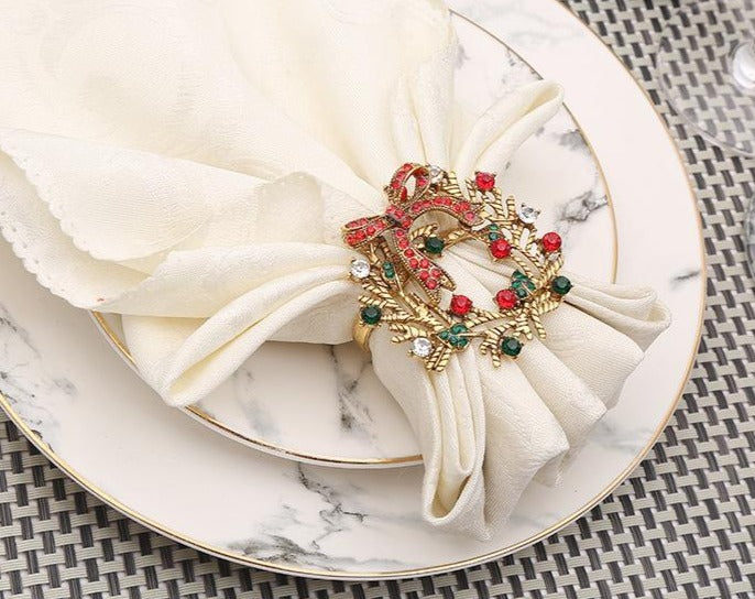 Christmas Wreath Napkin Ring (10PCS/Set) - Golly Ideal Shop