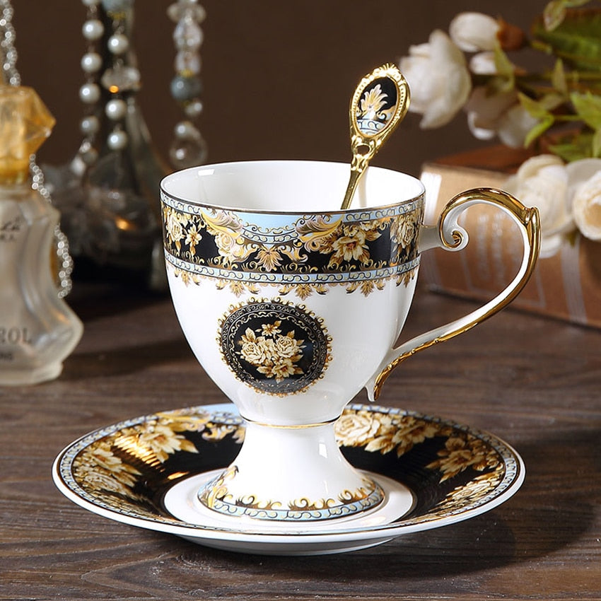 Luxury Bone China Coffee Cup Sets - Golly Ideal Shop