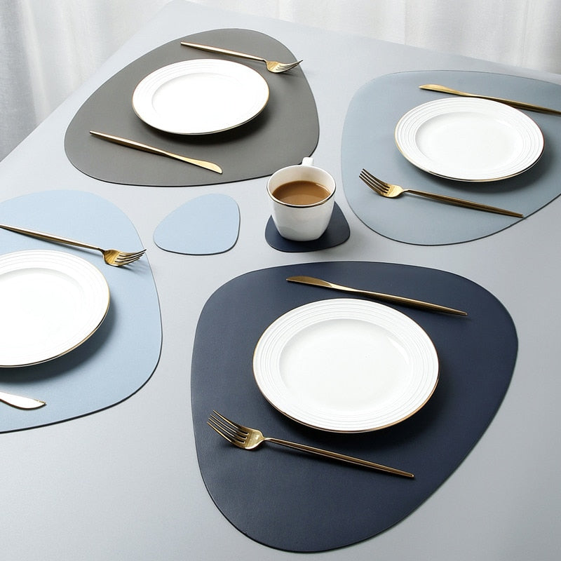 PU Leather Waterproof Table Mats Set - Golly Ideal Shop
