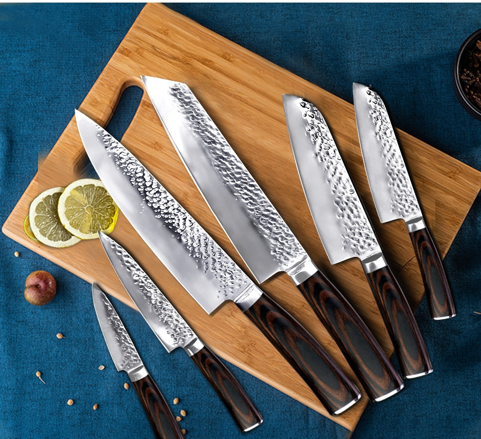 High Carbon Stainless Steel Japanese Chef Knives