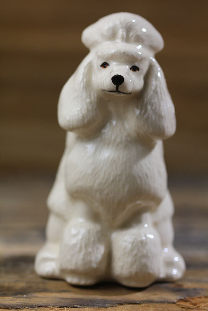 Hand-painted Poodle Ceramic Salt Pepper Shakers - Golly Ideal Shop