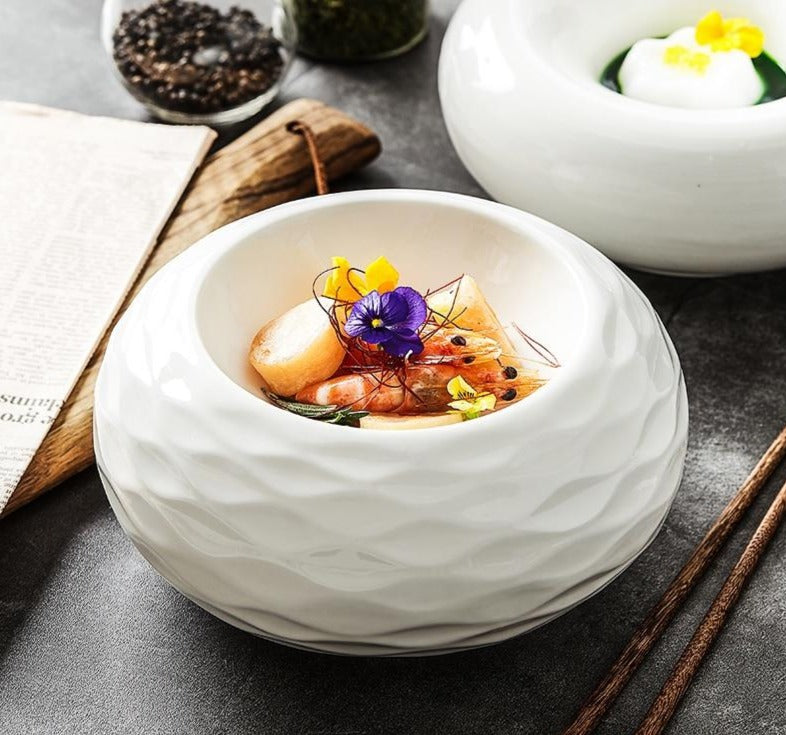Decorative Round Ceramic Bowl - Golly Ideal Shop