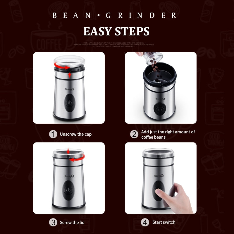 Mini Electric Coffee Spice Nuts Grinder 220V/110V - Golly Ideal Shop