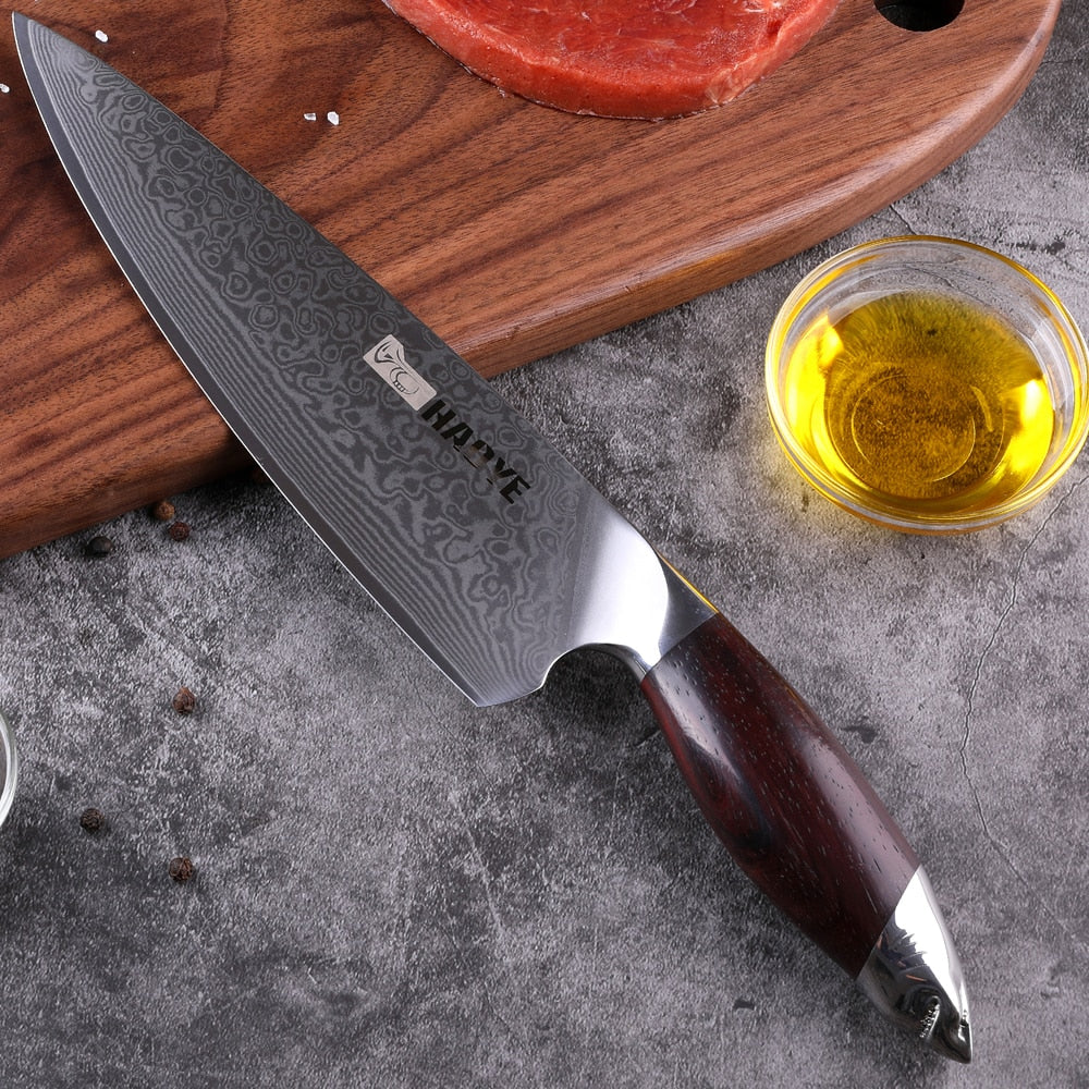 Japanese 67 layers HAOYE Damascus chefs knife