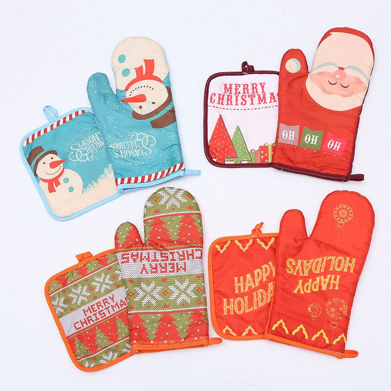 Christmas Series Oven Mitts - Golly Ideal Shop