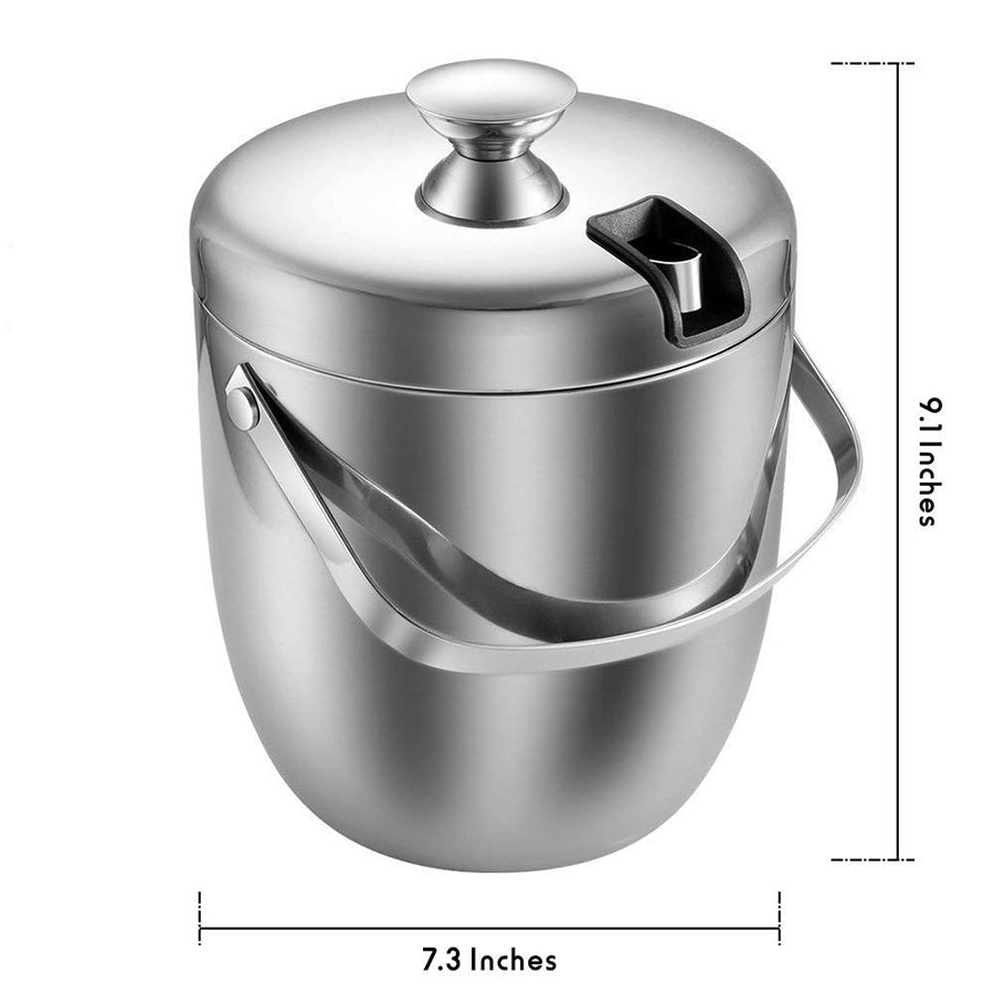 Double Walled Ice Bucket With Lid - Golly Ideal Shop