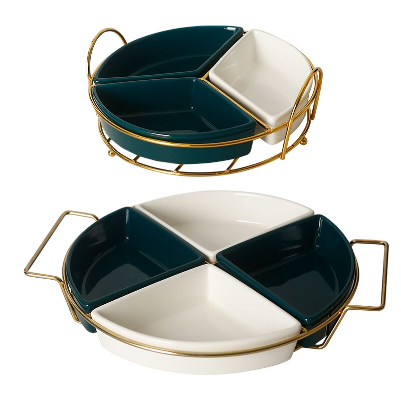 Ceramic Platter With Frame - Golly Ideal Shop