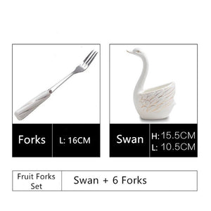 Ceramic Swan Tableware Sets - Golly Ideal Shop