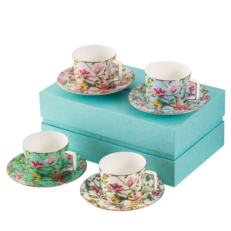 Bone China Coffee Tea Cup Gift Box Set - Golly Ideal Shop