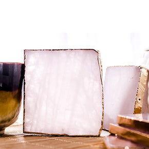 Slice Agate Coaster (2PCS Set) - Golly Ideal Shop