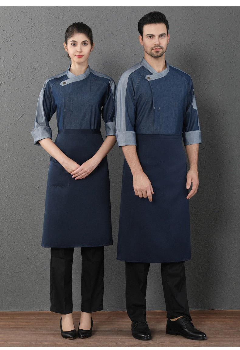 High Quality Stitching Sleeve Chef Jacket
