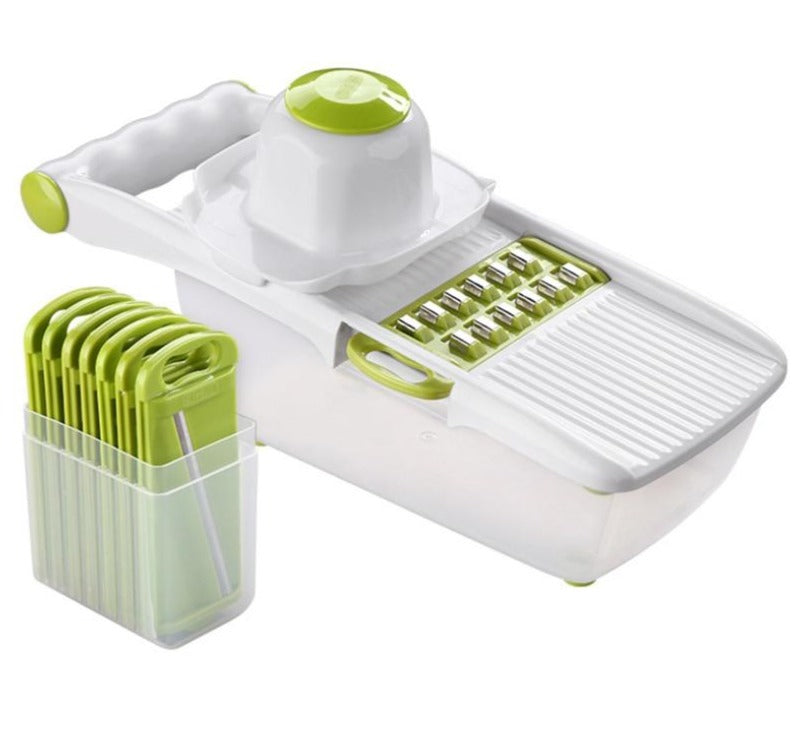 Mandoline Slicer With 8 Blades & Container Box