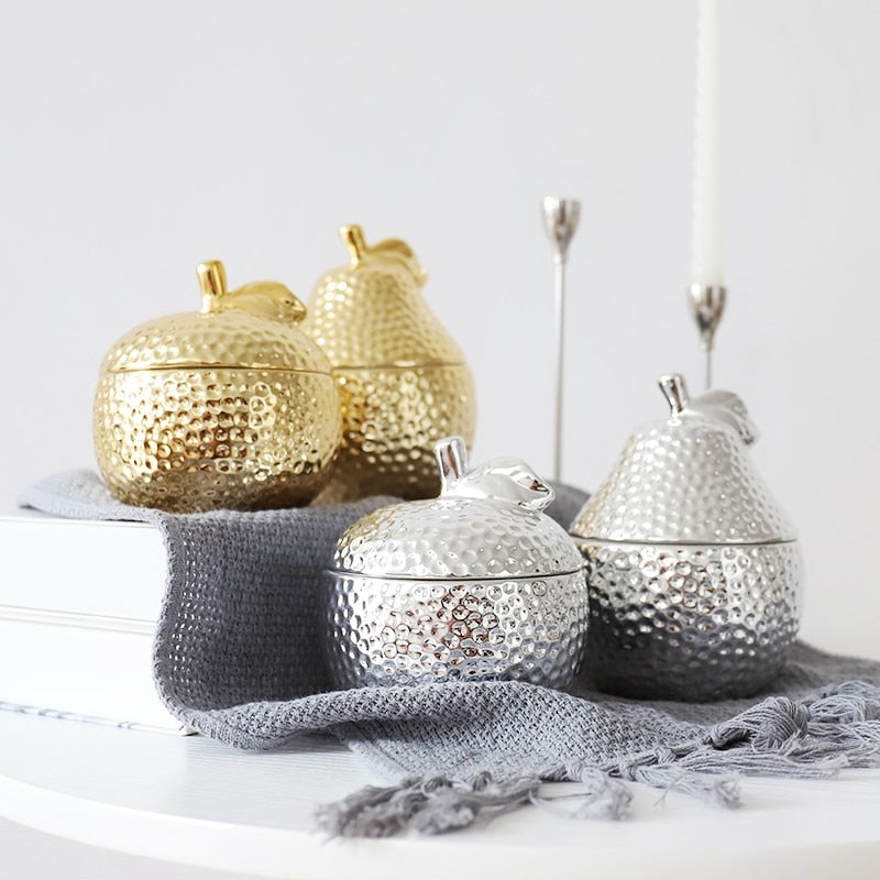 Ceramic Apple/Pear Storage Container - Golly Ideal Shop
