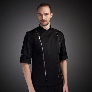 Roll-Up 3/4 Sleeve Breathable Chef Jacket