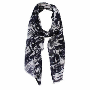Dlux Electra Squiggle Digi print Scarf 72176