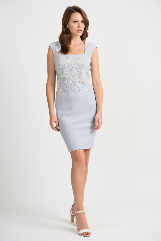 Joseph Ribkoff Pearl Bodice Dress Jr201218