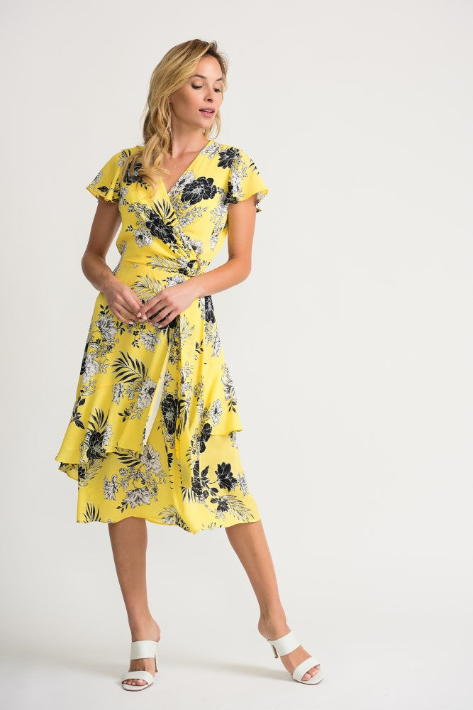 Joseph Ribkoff Floral Wrap Dress Jr202425