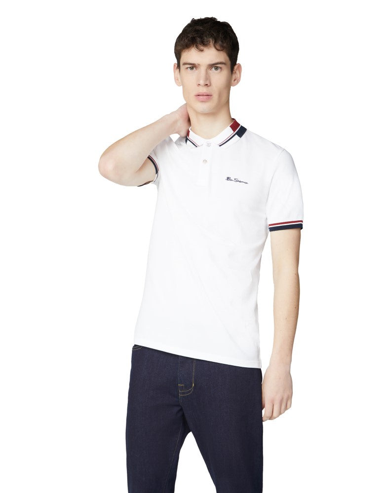 Ben Sherman Stripe Collar Polo Bs0059314010