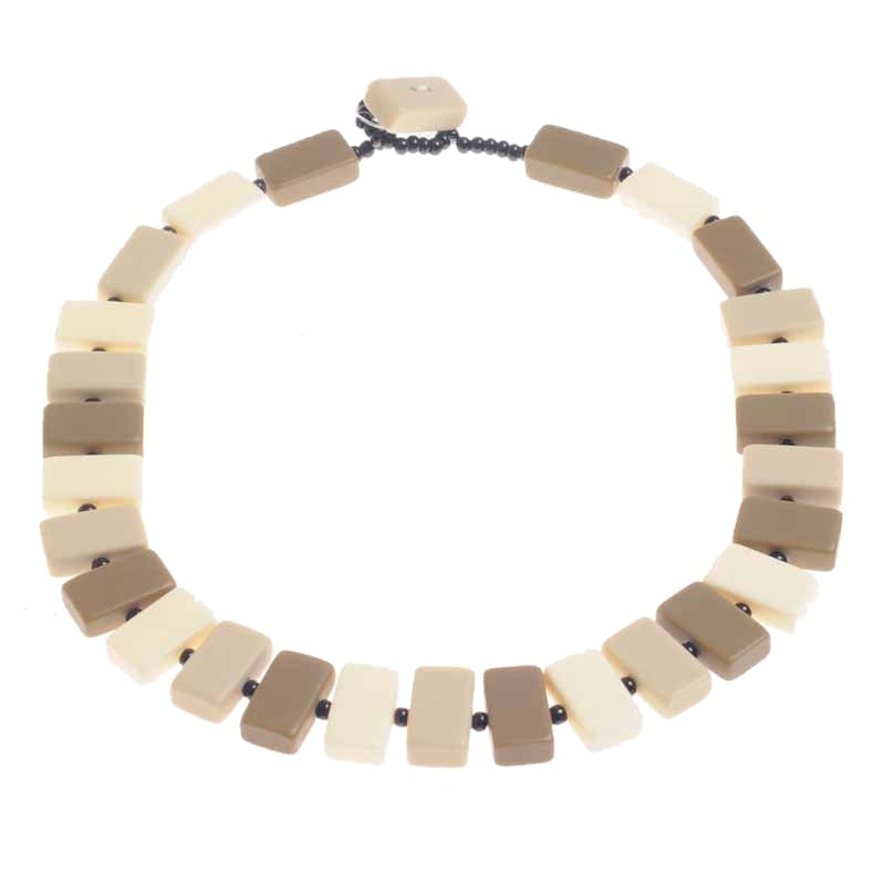 Jackie Brazil Linked Rectangular Beads N34