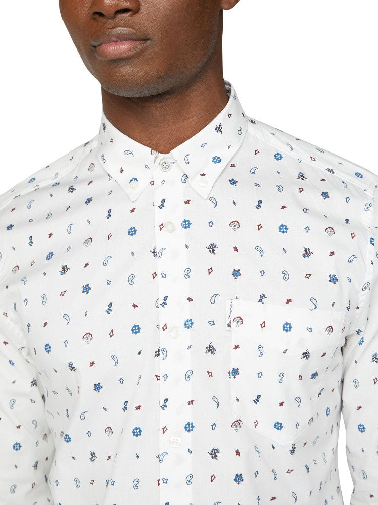 Ben Sherman Small Paisley Print Shirt Bs0059118106
