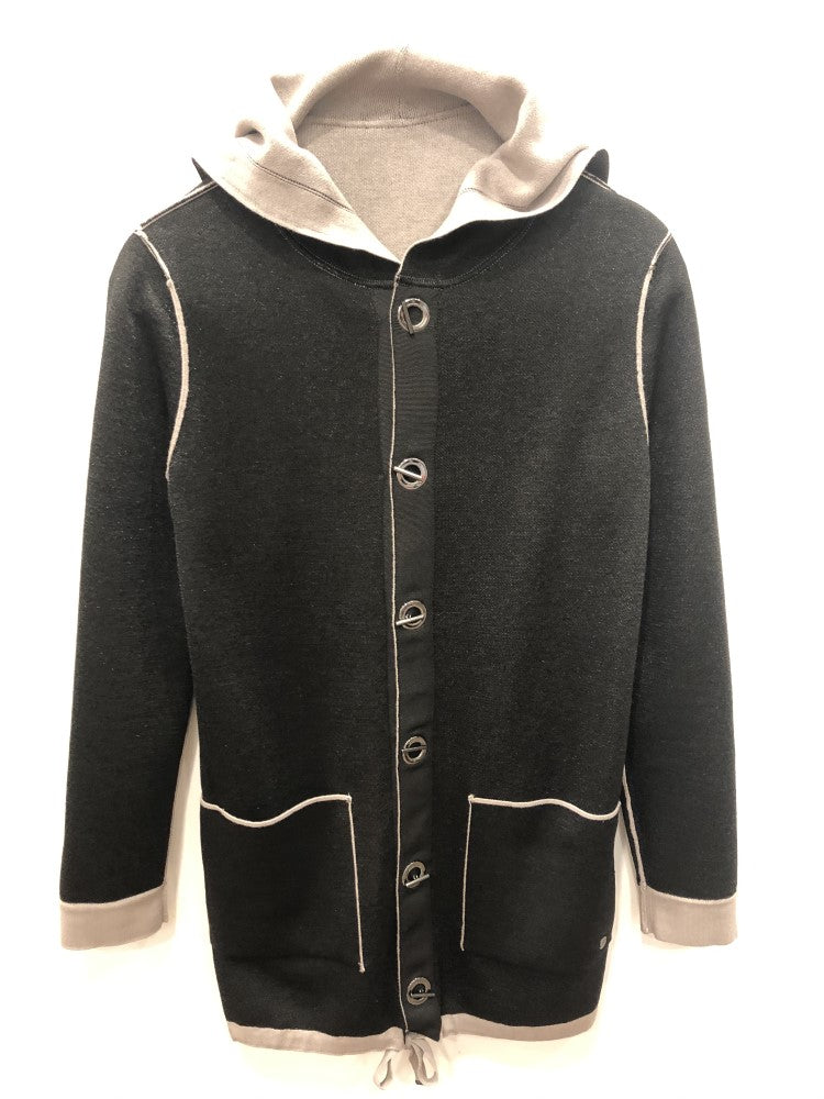 Monari Hooded Jacket Toggle Button M804281