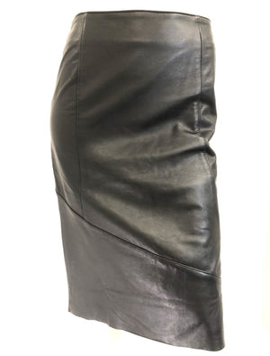 Sabatini A Line Leather Skirt S93808
