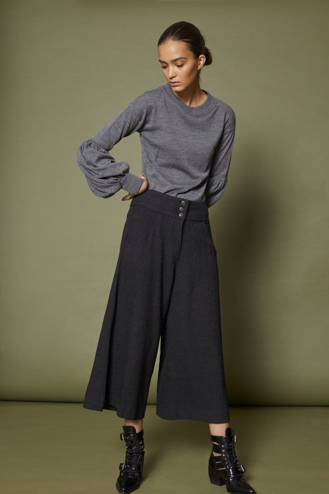 Sabatini Wide Leg Pleat Front Pant S93402