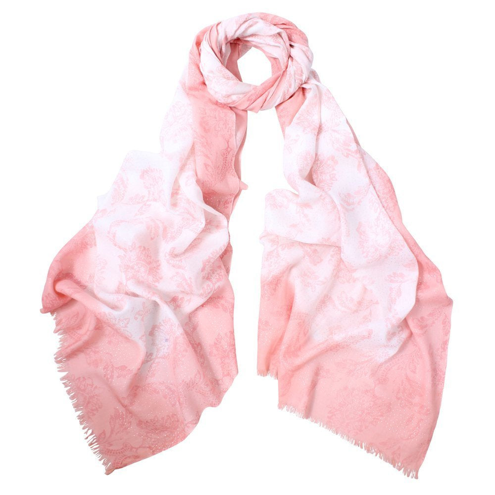 Dlux Tess Foil Print Dipped Scarf 93112