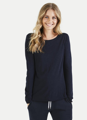 Juvia Long Sleeve  Crew Neck Tee J81500113